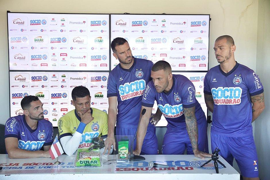 Em entrevista, jogadores do Bahia pedem apoio do torcedor