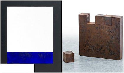 Obras de Amilcar de Castro que estão na exposição em Salvador
