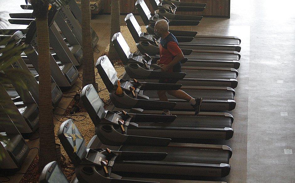 As academias voltaram a funcionar com capacidade reduzida de alunos.