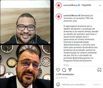 O jornalista Donaldson Gomes conversa com o advogado Leandro Mosello