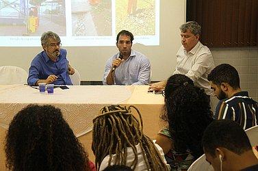 Roberto Gazzi, do CORREIO, com Carlos Viana Neto e Marcelo Azevedo da Sotero Ambiental