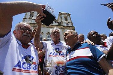 José Carlos Queiroz, Evaristo de Macedo e Paulo Maracajá, presidente do Bahia em 1988