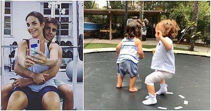 Domingão em família: Ivete mostra filhas e posa na academia com marido