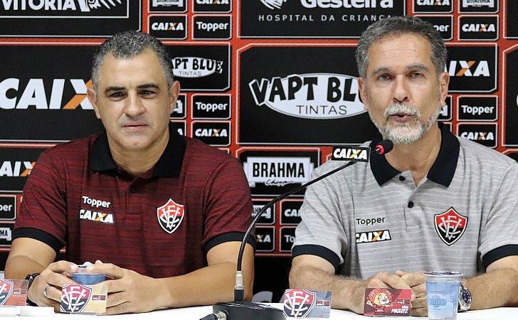 Chamusca fala sobre elenco 2019, uso da base e títulos no Vitória