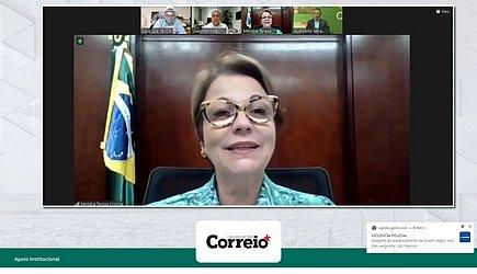 A ministra da Agricultura Tereza Cristina destacou força da atividade