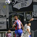 Gilberto perdeu uma chance clara e Bahia ficou no 0x0 com o Santos