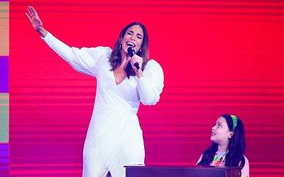 Ivete Sangalo canta no 'Criança Esperança 2019' — Foto: Paulo Belote/Globo