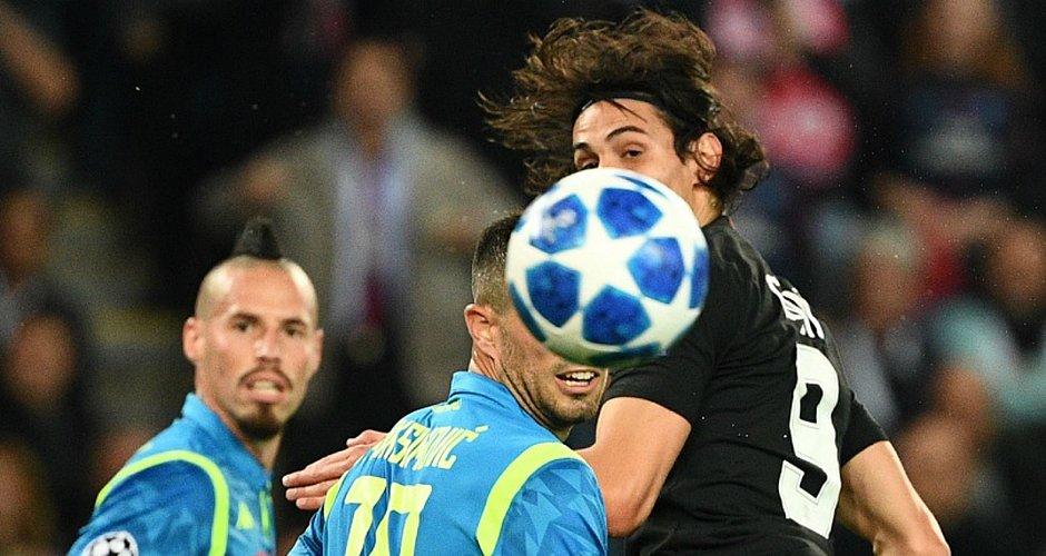 PSG de Cavani não passou de um empate com a Napoli, em Paris
