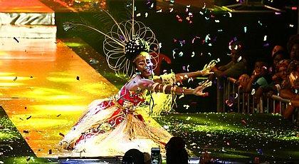 A festa que elege a Deusa do Ébano é um marco na valorização da beleza da mulher negra. Jéssica Nascimento foi a  Deusa de 2018