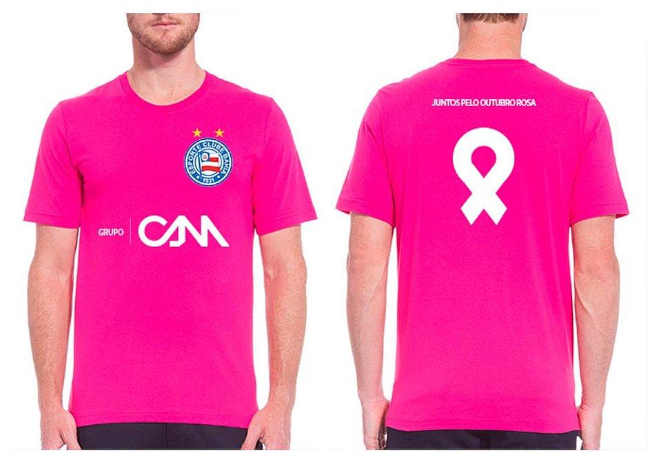 Bahia entrará em campo com camisa rosa nesta segunda-feira (19)
