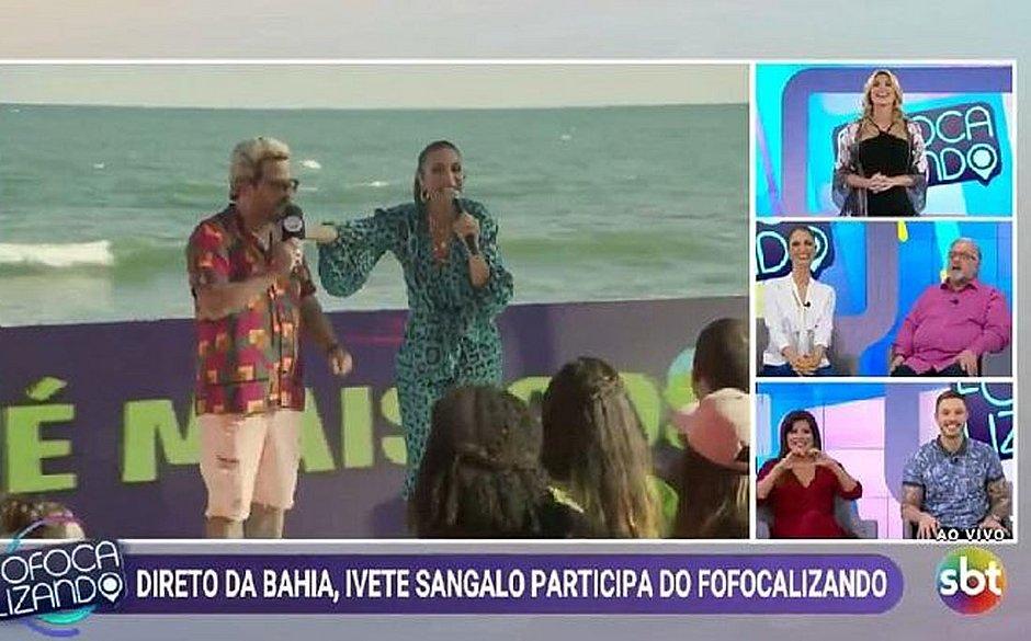 Ivete comete gafe e pergunta por Leo Dias no 'Fofocalizando'