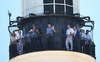 Bolsonaro em visita ao Farol da Barra, no final do ano passado
