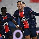 Mbappé marcou para o PSG no empate em 1x1 com o Barcelona