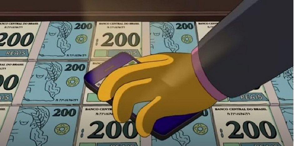 Simpsons 'previu' nota de R$ 200 seis anos antes do lançamento