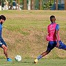 Capixaba marcou um dols do jogo-treino entre o os reservas dos times principal e transição