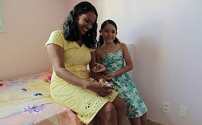 Nathália e a mãe, Andreia
