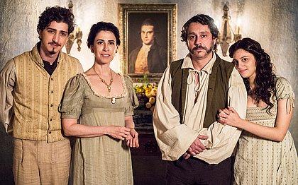 A família Bulhosa: Geraldinho, Maria Teresa, Geraldo e Catarina