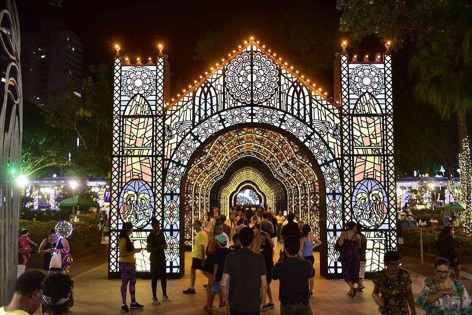 Decoração natalina no Campo Grande tem último fim de semana de visitação