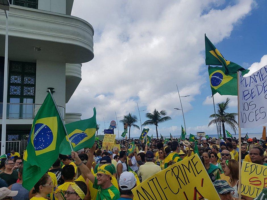Ato pró-Bolsonaro acontece no Farol da Barra e em várias cidades neste domingo