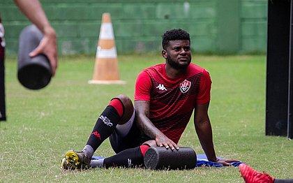 Rafael Carioca em treino do Vitória