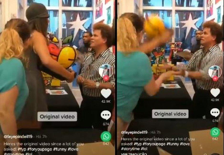 Mulher quebra obra de Romero Britto: 'Nunca ofenda meu funcionário'
