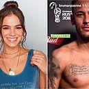 Bruna Marquezine fez homenagem ao namorado, eleito melhor em campo contra o México