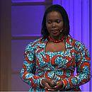 Mariémme Jamme em palestra do TDEX, em Amsterdã