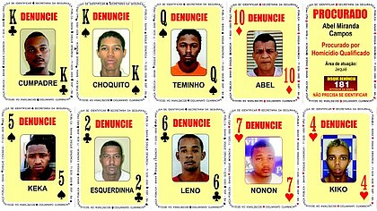 Baralho do Crime é atualizado com nove novas cartas
