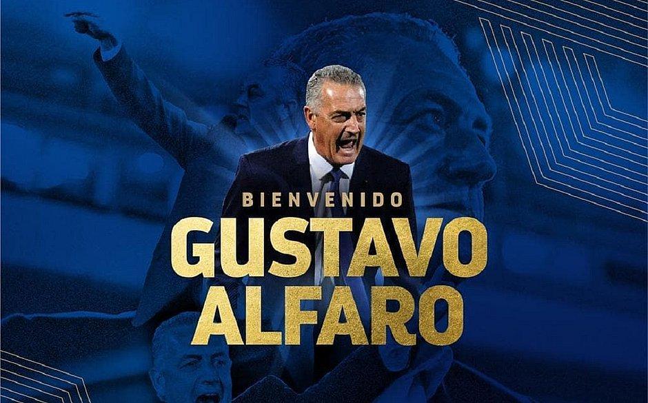 Gustavo Alfaro foi anunciado nesta quarta-feira (26)