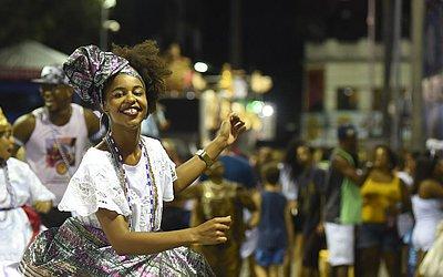 Baiana no samba