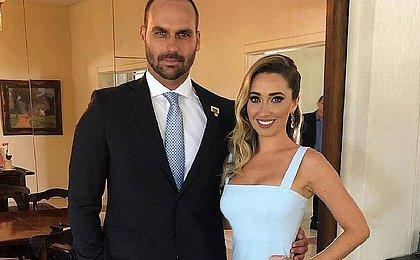 Esposa de Eduardo Bolsonaro diz que ela e filha pegaram covid-19