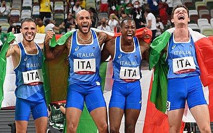 Italianos levaram o ouro no revezamento 4x100 metros masculino