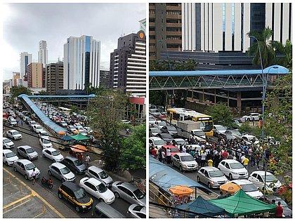 Motoristas por aplicativo fazem protesto contra categorias promocionais em Salvador