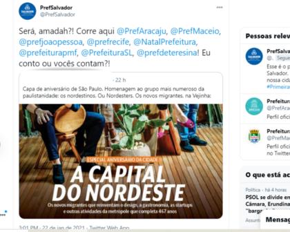 Após capa de revista, perfis de capitais nordestinas ironizam nas redes sociais