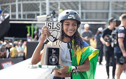 Rayssa foi campeã da etapa de Salt Lake City do Mundial de skate street