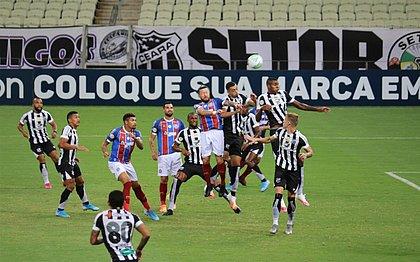 Tricolor voltou a sofrer com a bola aérea e foi derrotado pelo Ceará, no Castelão