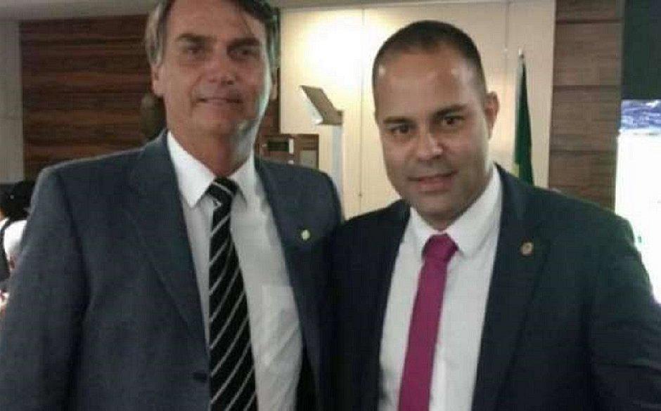 Filippe Proubel ao lado de Jair Bolsonaro