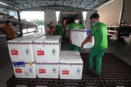 Bahia recebe 244 mil doses de vacina contra a covid-19 da AstraZeneca