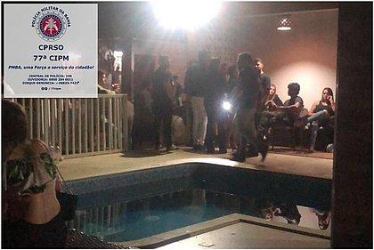 Grupo é conduzido para delegacia após promover festa para 100 pessoas na Bahia