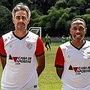 O preparador físico Ângelo Alves (esquerda) e o técnico Paulo Isidoro assumem o time sub-20 do Vitória
