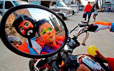 Dia Internacional do Palhaço em Guadalajara no México.