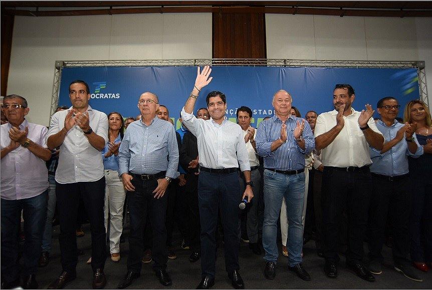 DEM apresenta Paulo Azi como presidente estadual e aposta em ACM Neto para 2022