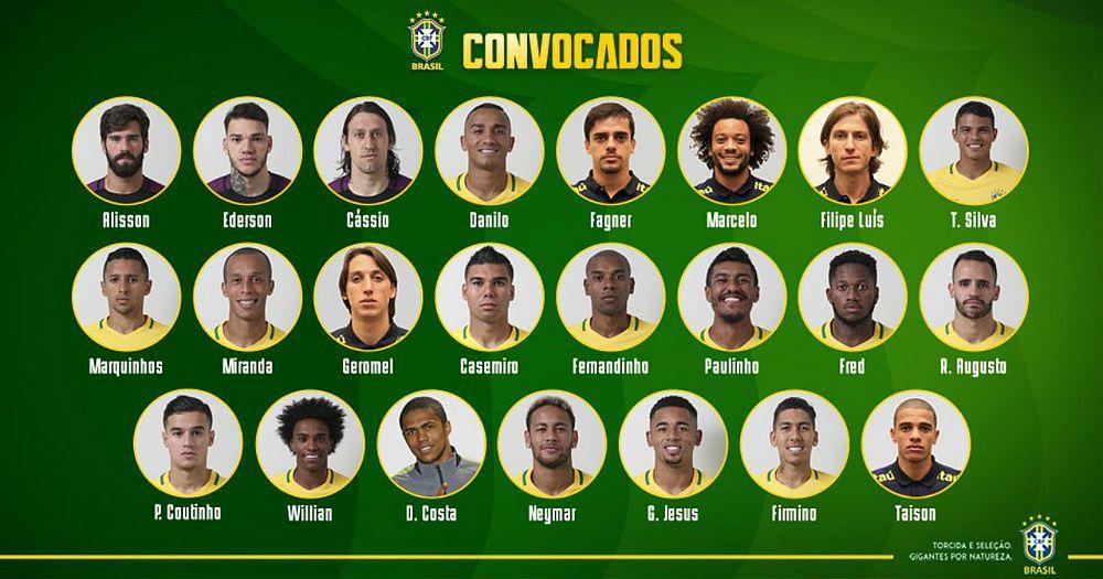 Seleção está convocada para Copa do Mundo  veja lista de 23 nomes ... b816b76418498