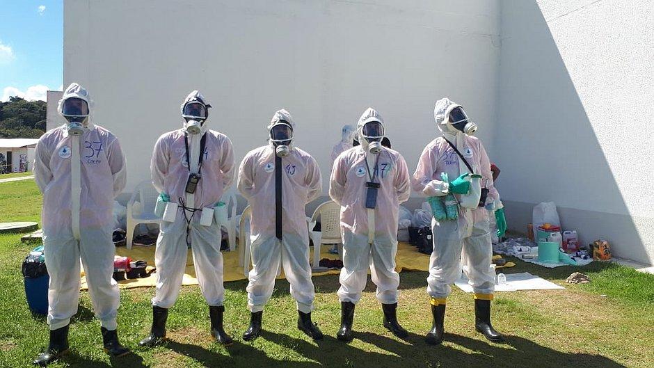 Nova equipe atua na descontaminação de hospital que atende vítimas da covid-19