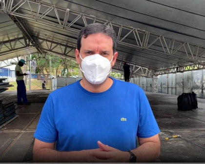 Prefeitura monta tenda com UTIs nos Barris e secretário faz apelo contra aglomerações