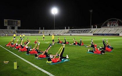 Time da casa, o Al-Ain treina para a abertura do Mundial