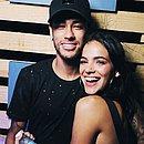 Bruna ao lado do ex namorado, o jogador Neymar
