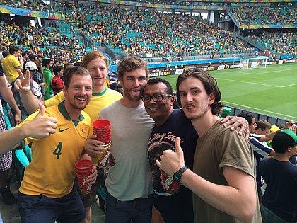 Lembranças das aventuras nos jogos da Copa do Mundo em Salvador