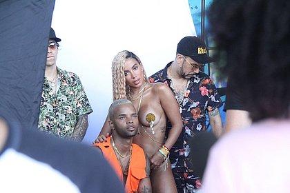 Veja bastidores exclusivos da gravação do clipe de Anitta em Salvador