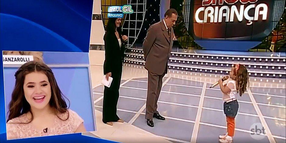 Maisa mostra sua primeira participação na TV, aos 3 anos; assista
